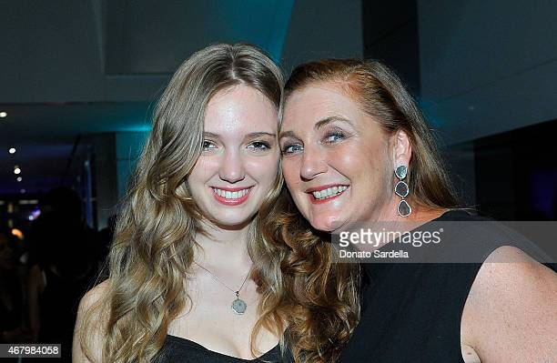 Francesca von Habsburg and Eleonore von Habsburg attend The Mistake Room 2015 Biennial Gala at CAA on March 28 2015 in Los Angeles California