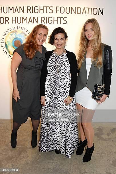 Francesca von Habsburg Bianca Jagger and Eleonore von Habsburg attend the Bianca Jagger Human Rights Foundation 'Arts for Human Rights' benefit gala...
