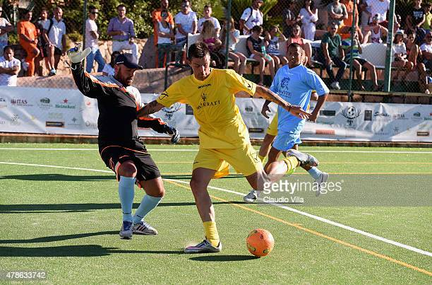 Francesco Acerbi in action during the Porto Cervo Summer 2015 Fiveaside Football Tournament Day One on June 26 2015 in Porto Cervo Italy