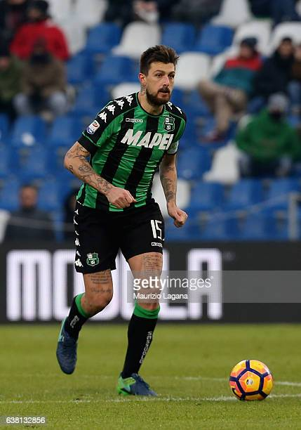 Francesco Acerbi of Sassuolo during the Serie A match between US Sassuolo and FC Torino at Mapei Stadium Citta' del Tricolore on January 8 2017 in...