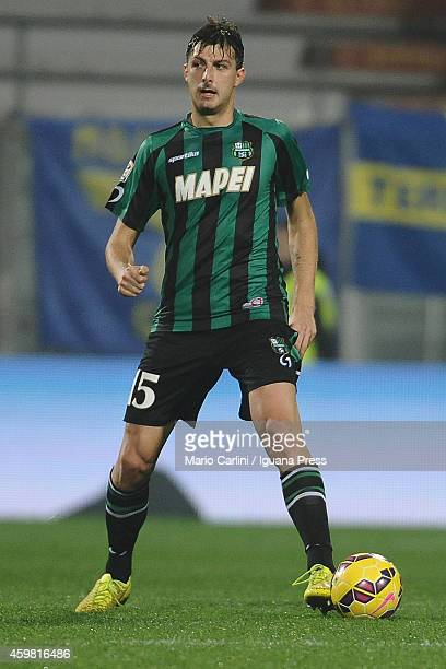 Francesco Acerbi of US Sassuolo Calcio in action during the Serie A match between US Sassuolo Calcio and Hellas Verona FC on November 29 2014 in...