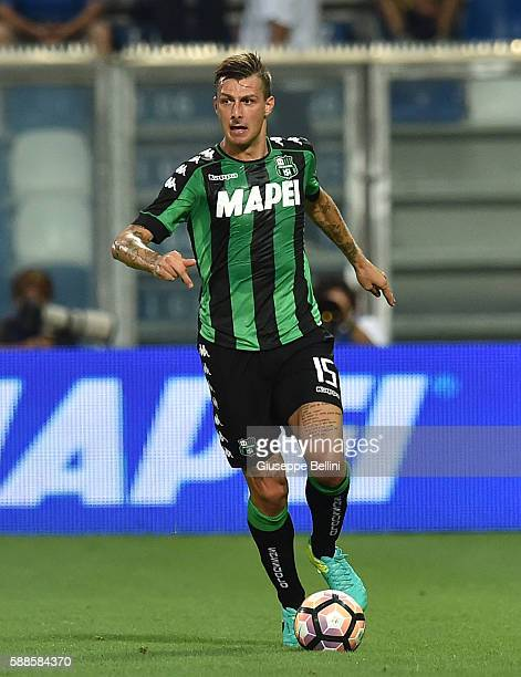 Francesco Acerbi of US Sassuolo in action during the Third Qualifying Round Europa League between US Sassuolo and FC Luzern at Mapei Stadium Città ...