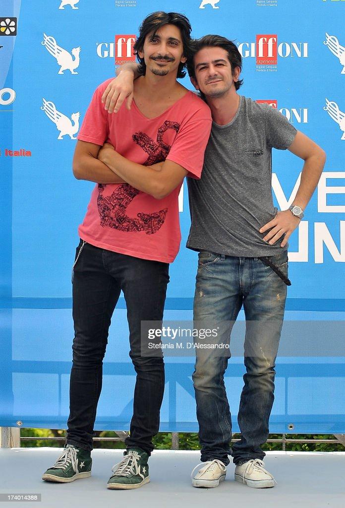 Francesco Biggio and Francesco Mandelli attend 2013 Giffoni Film Festival photocall on July 19, 2013 in Giffoni Valle Piana, Italy.