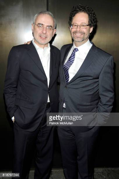 Francesco Bonami and Adam Weinberg attend WHITNEY BIENNIAL 2010 VIP Preview at The Whitney Museum on February 23 2010 in New York City