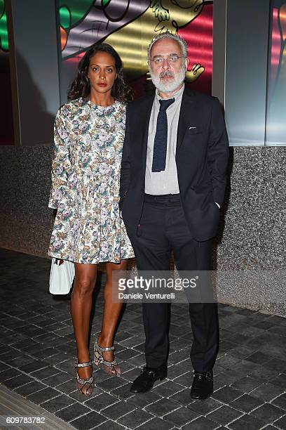 Francesco Bonami and Vanessa Riding attend Miuccia Prada and Patrizio Bertelli private screening of a short movie by David O Russell and dinner party...