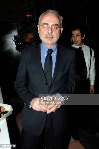 Francesco Bonami attends After Party for Opening of SKIN FRUIT Selections from the Dakis Joannou Collection at Bowery Hotel on March 2 2010 in New...