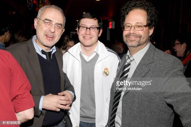 Francesco Bonami Gary CarrionMurayari and Adam Weinberg attend THE WHITNEY MUSEUM OF AMERICAN ART 2010 Biennial Artist Council Artist's Party at MxCo...