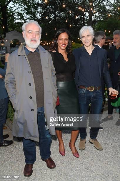 Francesco Bonami Vanessa Riding and Tom Delavan attend 'T Magazine The New York Times' Celebration of Milan Design Week on April 3 2017 in Milan Italy