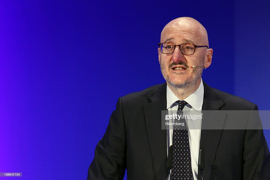 Francesco Caio, chief executive officer of Avio SpA, speaks during a news conference at the company's headquarters in Colleferro, near Rome, Italy, on Monday, Feb. 13, 2012. Avio, an Italian provider of aerospace services and equipment including gearboxes for aircraft engines, aims to sell shares to the public when the market improves, Caio said in an interview. Photographer: Alessia Pierdomenico/Bloomberg via Getty Images