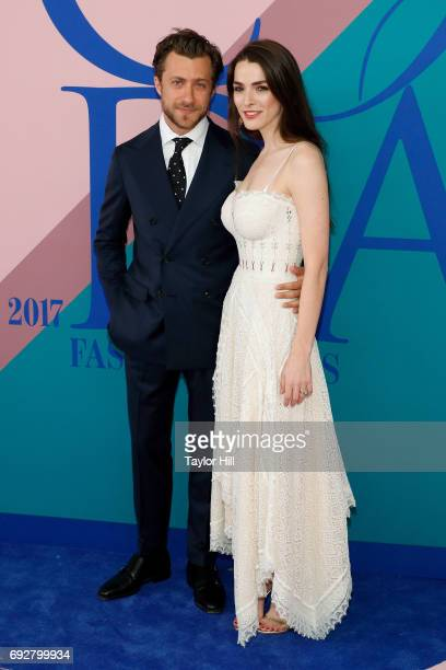 Francesco Carrozini and Bee Shaffer attend the 2017 CFDA Fashion Awards at Hammerstein Ballroom on June 5 2017 in New York City