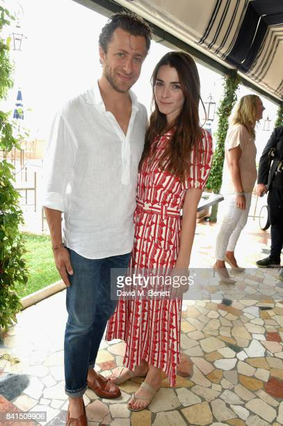 Francesco Carrozzini and Bee Shaffer attend an intimate lunch hosted by Livia Firth Carlo Capasa and Caroline Scheufele to announce Chopard as...