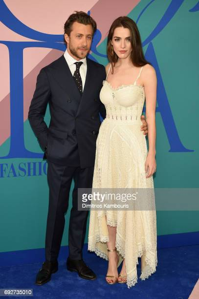 Francesco Carrozzini and Bee Shaffer attend the 2017 CFDA Fashion Awards at Hammerstein Ballroom on June 5 2017 in New York City