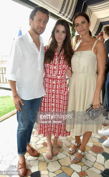 Francesco Carrozzini Bee Shaffer and Livia Firth attend an intimate lunch hosted by Livia Firth Carlo Capasa and Caroline Scheufele to announce...