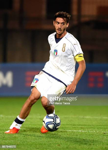 Francesco Cassata of Italy U20 in action during the 8 Nations Tournament match between Italy U20 and England U20 on October 5 2017 in Gorgonzola Italy