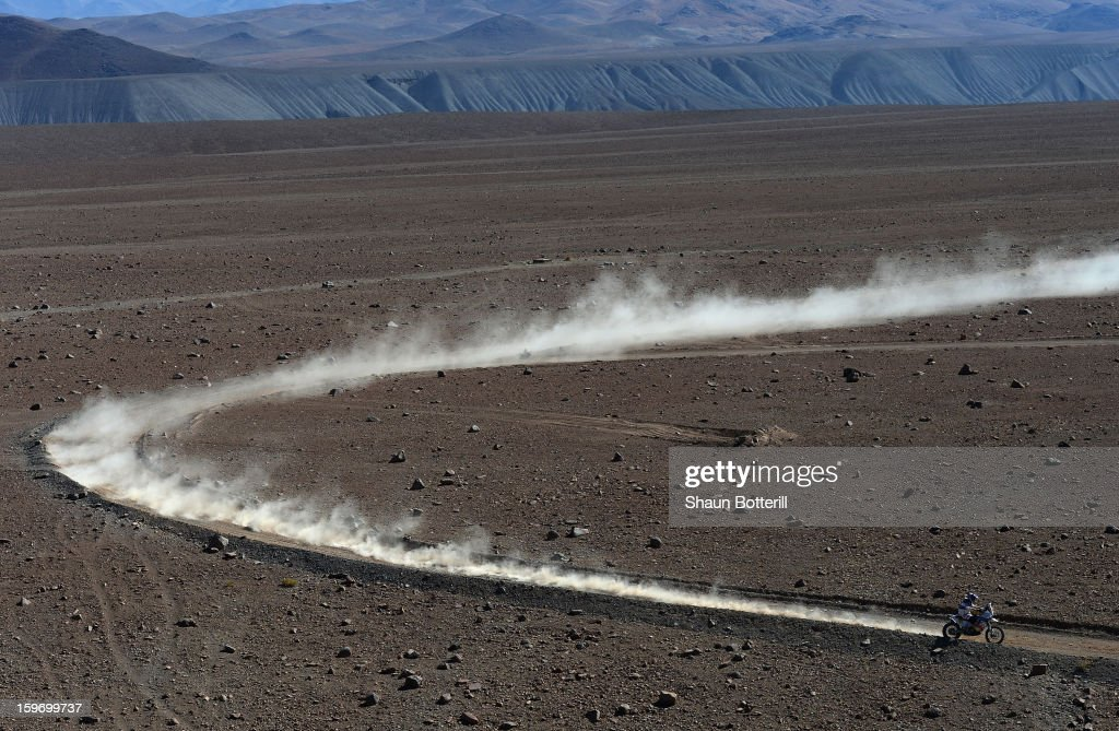 Francesco Chaleco Lopez Contardo of Chile competes in stage 13 from Copiapo to La Serena during the 2013 Dakar Rally on January 18, 2013 in Copiapo, Argentina.