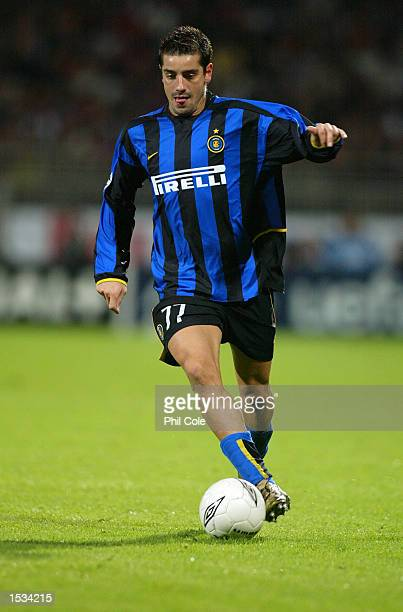 Francesco Coco of Inter Milan on the ball during the UEFA Champions League First Phase Group D match between Lyon and Inter Milan at the Stade de...
