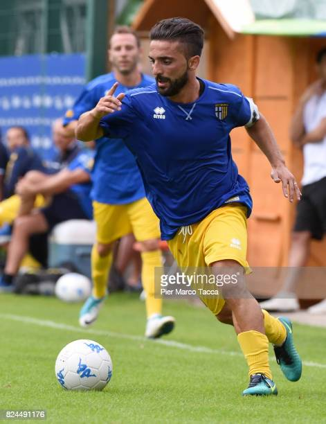 Francesco Corapi of Parma Calcio in action during the preseason friendly match between Parma Calcio and Dro on July 30 2017 in Pinzolo near Trento...