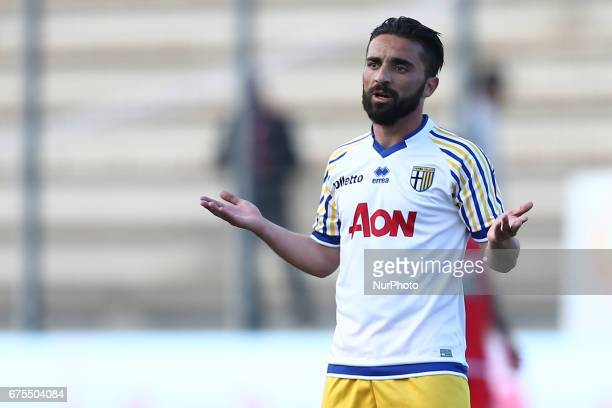 Francesco Corapi of Parma during Lega Pro round B match between Teramo Calcio 1913 and Parma Calcio at Stadium Gaetano Bonolis on 30 April 2017 in...
