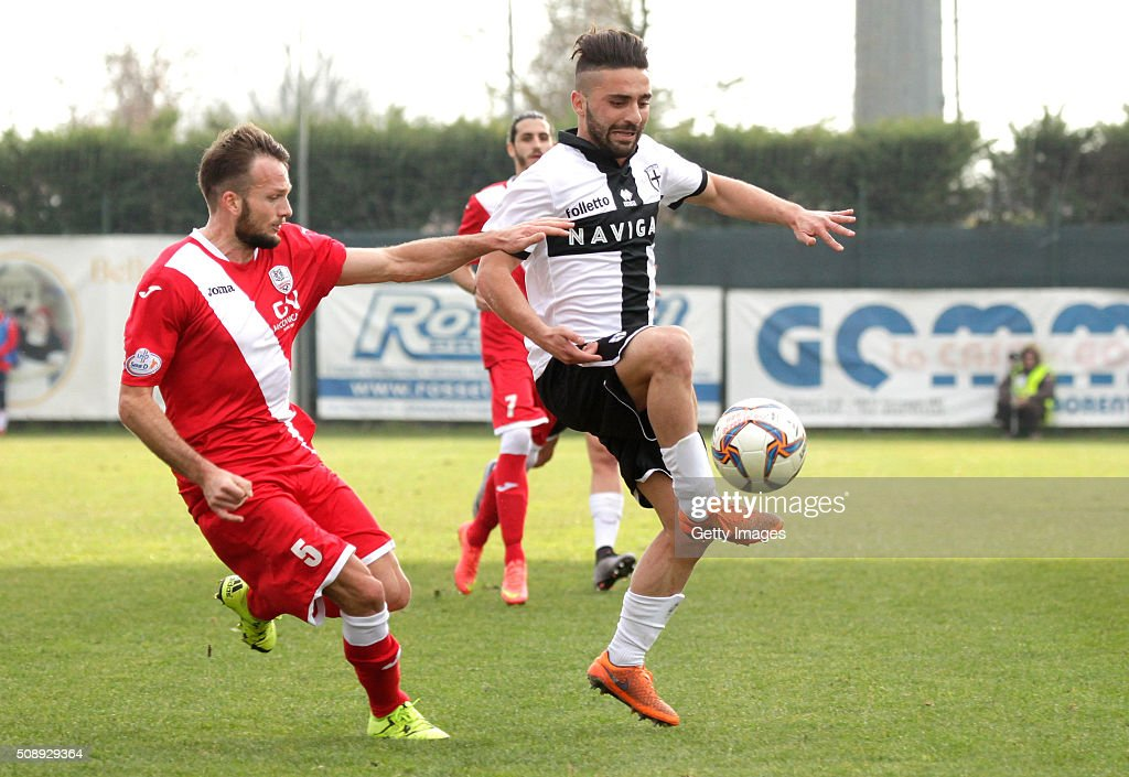 Francesco Corapi of Parma in action durnig the Serie D match between Correggese Calcio and Parma Calcio 1913 on February 7, 2016 in Valdagno, Italy.