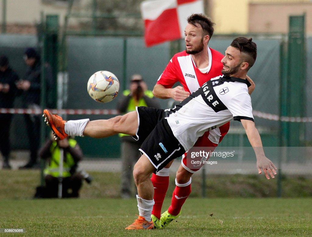 Francesco Corapi of Parma in action durnig the Serie D match between Correggese Calcio and Parma Calcio 1913 on February 7, 2016 in Valdagno, Italy.