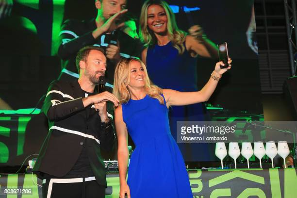 Francesco Facchinetti and Diletta Leotta attend Bikkembergs European Futsal Tournament on July 4 2017 in Milan Italy