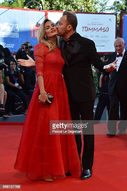 Francesco Facchinetti and Wilma Helena Faissol attend the opening ceremony and premiere of 'La La Land' during the 73rd Venice Film Festival at Sala...