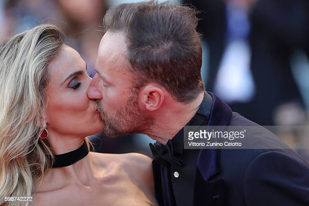 Francesco Facchinetti and Wilma Helena Faissol attend the premiere of 'Nocturnal Animals' during the 73rd Venice Film Festival at Sala Grande on...