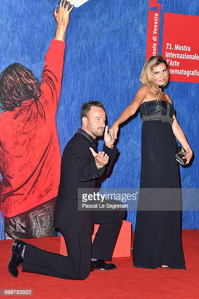 Francesco Facchinetti and Wilma Helena Faissol attend the premiere of 'Franca Chaos And Creation' during the 73rd Venice Film Festival at Sala...