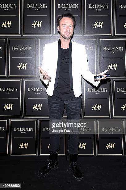 Francesco Facchinetti attends Balmain For HM Collection Preview Photocall on November 4 2015 in Milan Italy