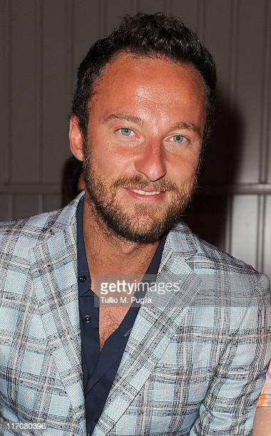 Francesco Facchinetti attends the Enrico Coveri fashion show as part of Milan Fashion Week Menswear Spring/Summer 2012on June 21 2011 in Milan Italy