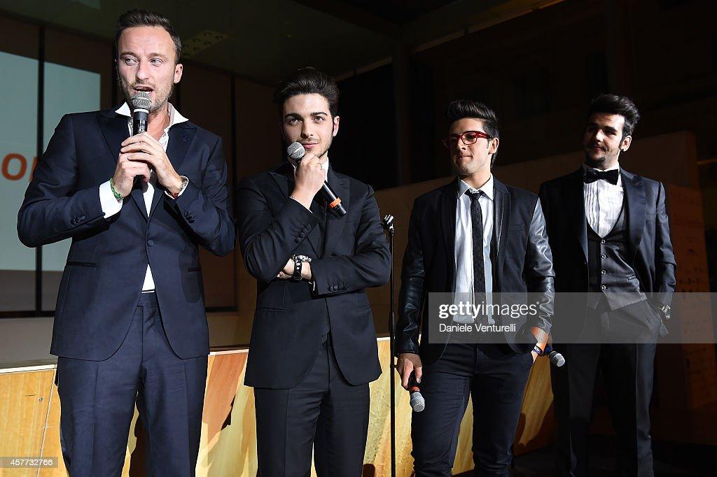 Francesco Facchinetti Gianluca Ginoble Ignazio Boschetto and Piero Barone attend Gala Telethon during the 9th Rome Film Festival at Auditorium Parco...