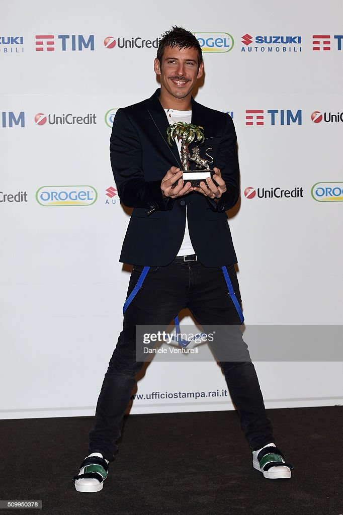 Francesco Gabbani attends a photocall at 66. Sanremo Festival on February 13, 2016 in Sanremo, Italy.