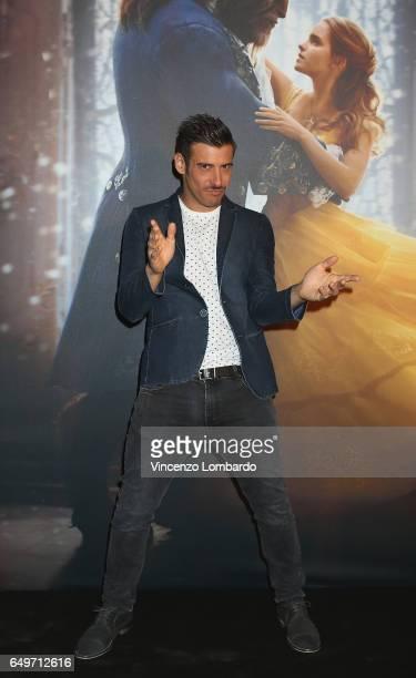 Francesco Gabbani attends 'La Bella E La Bestia' premiere on March 8 2017 in Milan Italy
