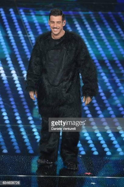 Francesco Gabbani attends the fourth night of the 67th Sanremo Festival 2017 at Teatro Ariston on February 10 2017 in Sanremo Italy