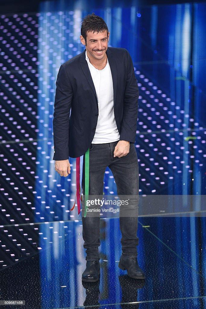 Francesco Gabbani attends the third night of the 66th Festival di Sanremo 2016 at Teatro Ariston on February 11, 2016 in Sanremo, Italy.