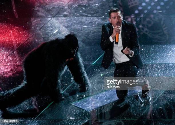 Francesco Gabbani during the 67th edition of the Sanremo Festival on February 11 2017