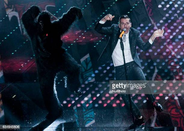 Francesco Gabbani during the 67th edition of the Sanremo Festival on February 11 2017