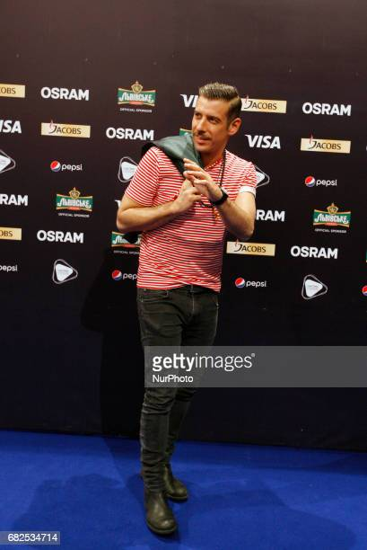 Francesco Gabbani from Italy poses for a photo during a press conference at the Eurovision Song Contest in Kiev Ukraine 12 May 2017 The Eurovision...