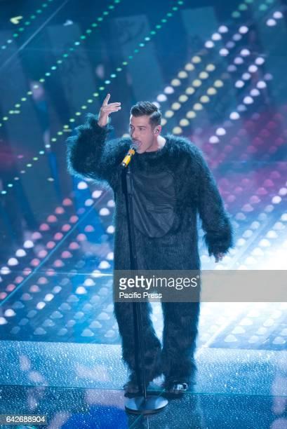 Francesco Gabbani the winner of the 67th Sanremo Festival competition in Italy