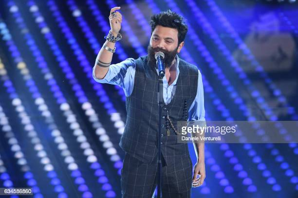 Francesco Guasti attends the fourth night of the 67th Sanremo Festival 2017 at Teatro Ariston on February 10 2017 in Sanremo Italy