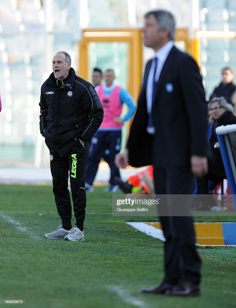Francesco Guidolin head coach of Udinese during the Serie A match between Pescara and Udinese Calcio at Adriatico Stadium on March 3, 2013 in Pescara, Italy.