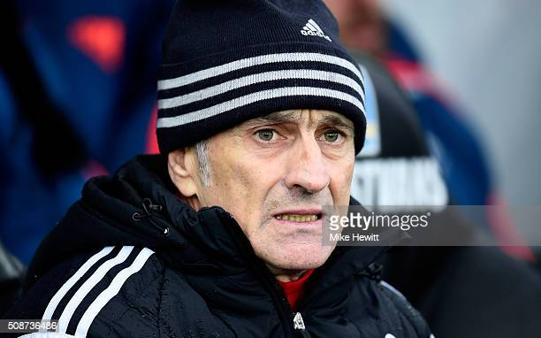 Francesco Guidolin Manager of Swansea City looks on prior to the Barclays Premier League match between Swansea City and Crystal Palace at the Liberty...