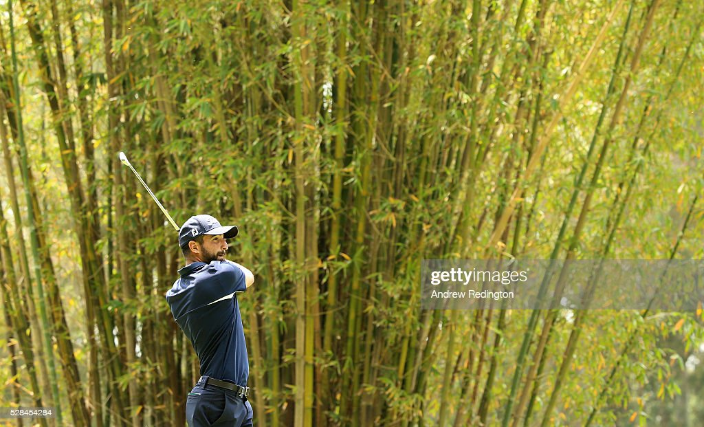 Francesco Laporta of Italy hits his tee-shot on the 17th hole during the first round of the Trophee Hassan II at Royal Golf Dar Es Salam on May 5, 2016 in Rabat, Morocco.