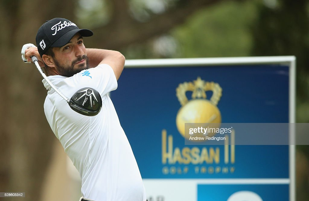Francesco Laporta of Italy in action during the second round of the Trophee Hassan II at Royal Golf Dar Es Salam on May 6, 2016 in Rabat, Morocco.