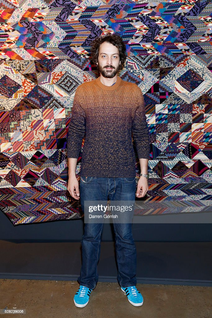 Francesco Maccapani Missoni attends the Missoni Art Colour preview in partnership with Woolmark at The Fashion and Textile Museum on May 4, 2016 in London, England.