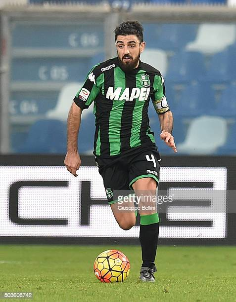 Francesco Magnanelli of Sassuolo in action during the Serie A match between US Sassuolo Calcio and Frosinone Calcio at Mapei Stadium Città del...