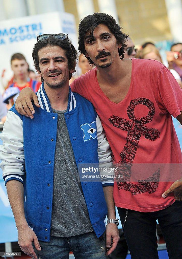 Francesco Mandelli and Francesco Biggio attend 2013 Giffoni Film Festival Blue Carpet on July 19, 2013 in Giffoni Valle Piana, Italy.