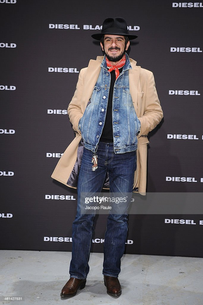 Francesco Mandelli attends Diesel Black Gold fashion show during Pitti Immagine Uomo 85 on January 8, 2014 in Florence, Italy.