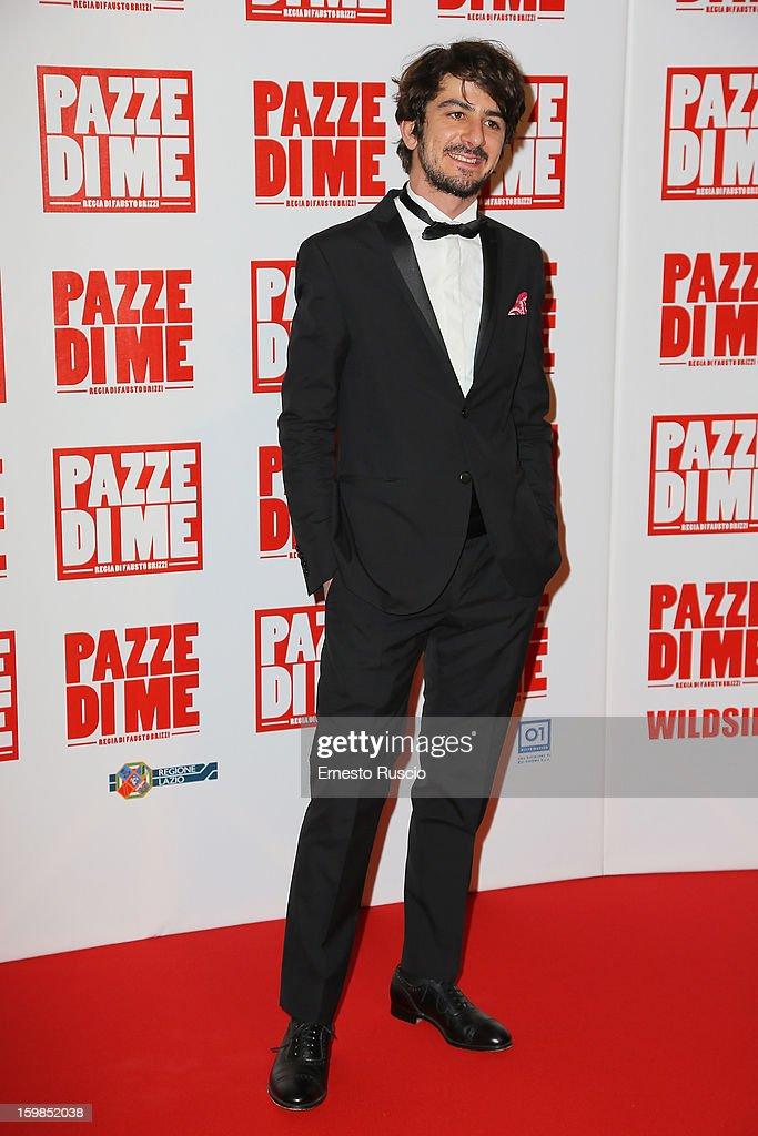 Francesco Mandelli attends the 'Pazze di Me' premiere at Teatro Sistina on January 21, 2013 in Rome, Italy.