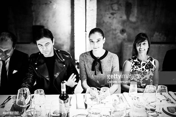 Francesco Melzi Fabio Crovi Chiara Baschetti and Elena Labia attend Muse The Travel Issue Dinner at Segheria Di Carlo E Camilla on October 28 2015 in...